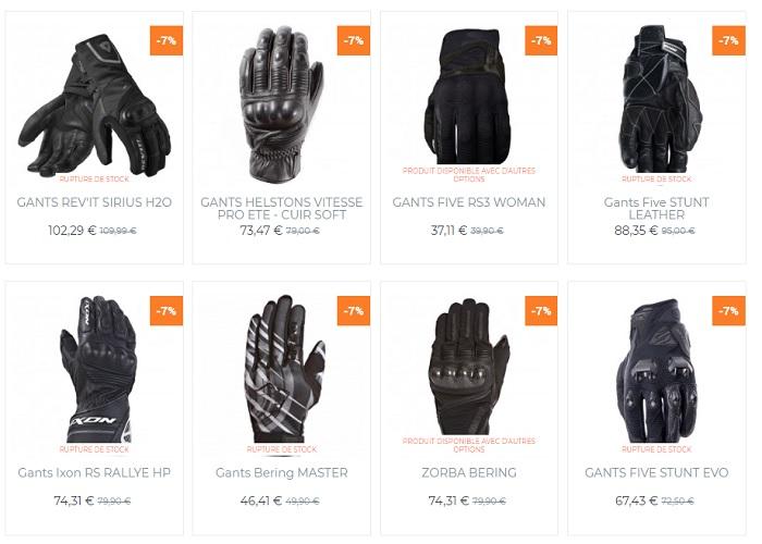 gants moto Mi-Saison